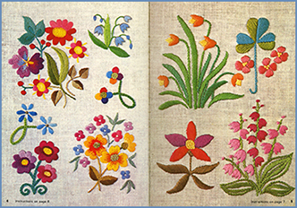 Small Flowers in Embroidery pages 5 & 6